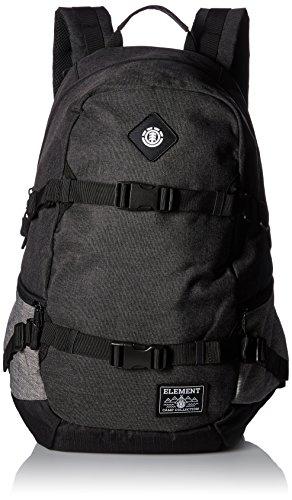 Element Young Men's Jaywalker Skate Backpack With Straps and Laptop Sleeve Accessory, JAYWALKER BLACK HEATHER L, ONE