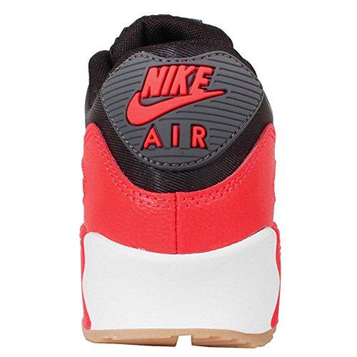 Nike Vrouwen Wmns Air Max 90 Essentieel, Zwart / Donker Grijs-heldere Karmozijn-sl, 5 Ons