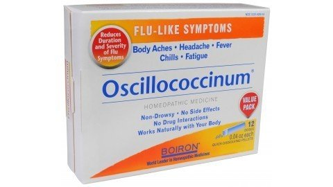 Boiron Oscillococcinum Natural Flu Relief - 12 doses per pack (Over The Counter Medicine For Stomach Virus)