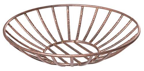 Red Co. Round Iron Wire Basket, Centerpiece Décor, Decorative Bowl, Copper Finish, 14-inch