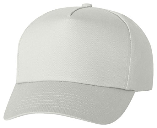 Valucap Men's Five-Panel Twill Cap 8869 Adjustable White - 5 Panel Twill Structured Cap