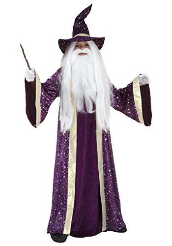 Kids Wizard Costume Medium (Wizard Boy Costume)
