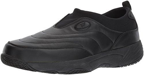 Propet Men's Wash N Wear Slip On Suede Walking Shoe, sr Black Leather, 13 5E US