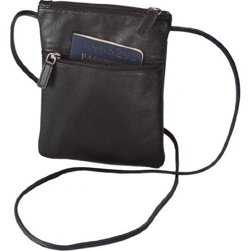(Harness Cowhide Leather Mini-Tote/Passport Holder Color: Black)