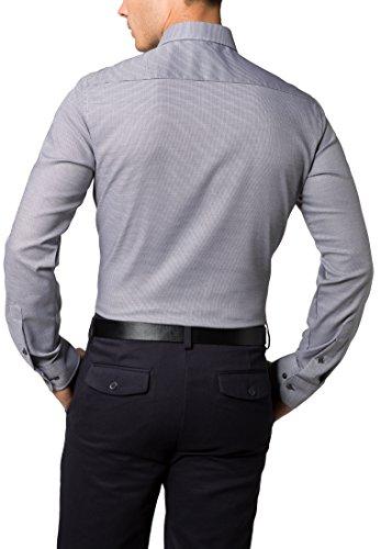 ETERNA Langarm Hemd SLIM FIT Stretch strukturiert