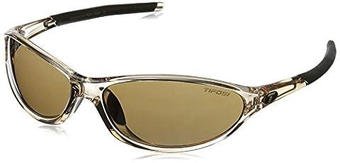 Tifosi Women's Alpe 2.0 Wrap Sunglasses, Crystal Brown, 128 mm - 2.0 Rx Eyewear
