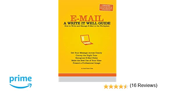 Amazon.com: E-Mail: A Write It Well Guide (9780963745590): Janis ...