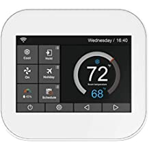 Karandash F-22 Touch Wi-Fi Thermostat with Touchscreen Color Display for Smart Home, Compatible with Alexa  (White)