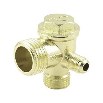 DealMux latón 21mm 16mm 10mm Rosca macho conector del tubo del compresor de aire válvula de retención: Amazon.es: Industria, empresas y ciencia