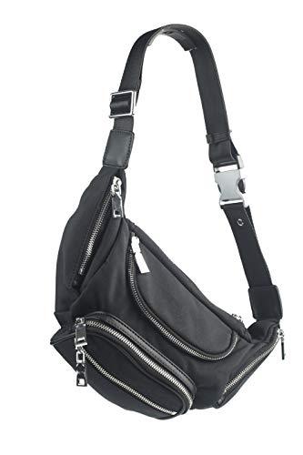 82a790e11a3a Black Microfiber Crossbody Sling Bag for Women and Men Unisex
