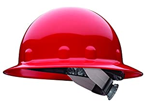 Fibre-Metal by Honeywell E1SW15A000 Super Eight Full Brim Swing Strap Hard Hat, Red