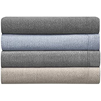 Morgan Home Fashions Cotton Rich T Shirt Soft Heather Jersey Knit Sheet Set    All