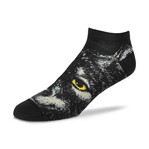 For Bare Feet Women's Fbf Originals Wildlife Novelty Sock, Realistic Wolf, Medium
