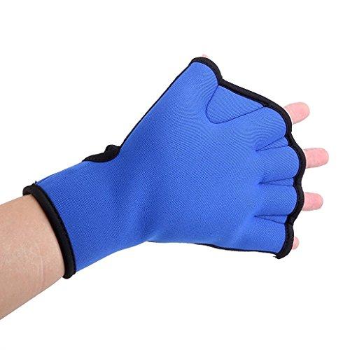Foopp Bleu en néoprène palmés Gants de natation Gants d'entraînement (M)