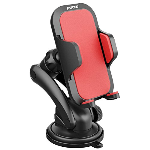 Mpow 060 Car Mount Holder,Universal Dashboard Car Phone Mount Holder One-Touch Design&Washable Strong Sticky Gel Pad Compatible iPhoneXs MAX/XS/XR/X/8/8Plus7/Galaxy S7/S8/S9/S10,Google,LG,Red