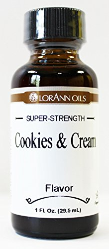 LorAnn Cookies & Cream Super Strength Flavor 1 oz (Best Cookies And Cream Ice Cream Brand)