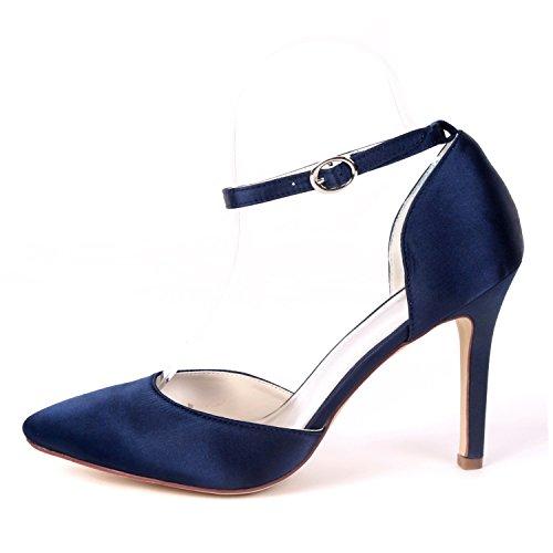 Tacón Nueva Plataforma Honor Damas Eleoulck Bajo Mujer Zapatos Satén 9 Red Gatito Boda Noche 5cm Hebilla De wTwRAq7
