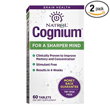 Natrol Cognium Sharper Mind, 60 Tablets (Pack of 2)