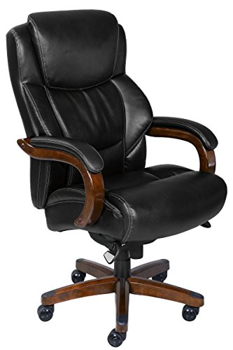 LaZBoy 45833A La-Z-Boy Delano Chair Big/Tall Traditions Executive Office, Black by La Z Boy