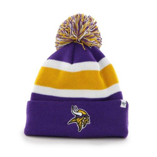 Vikings Minnesota Glove (NFL Minnesota Vikings Men's Breakaway Knit Cap, One Size, Purple)