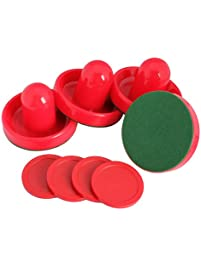 Awakingdemi 4pcs Plastic Air Hockey Pucks And Pushers Goal Handles Paddles  Replacement For Game Tables,
