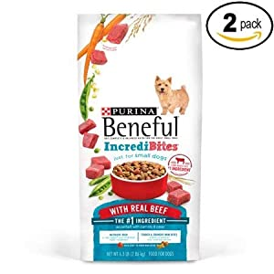 Beneful Purina IncrediBites with Real Beef Adult Dry Dog Food - 3.5 lb. Bag (Pack of 2)