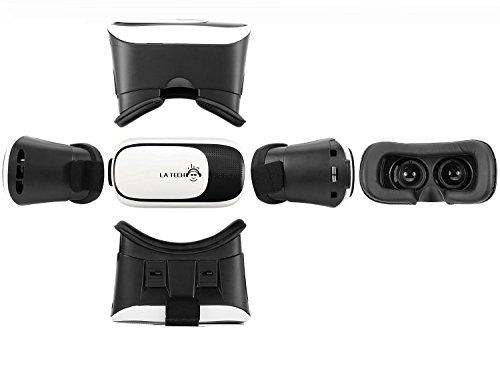 LA TECH 3D Videobrille einstellbar VR Virtual Reality Brille VR Brille für 3D Filme und Spiele 3.5