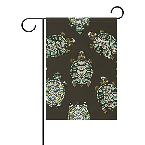HOOSUNFlagrbfa Ocean Sea Aquatic Turtle Tortoise Vintage Garden Yard Flag Banner for Outside House Flower Pot Double Side Print 12 x 18 ()