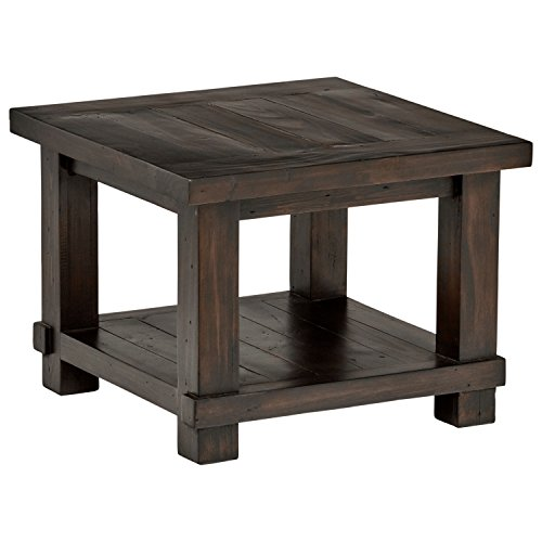 Stone & Beam Ferndale Rustic Side Table, 24″W, Espresso For Sale