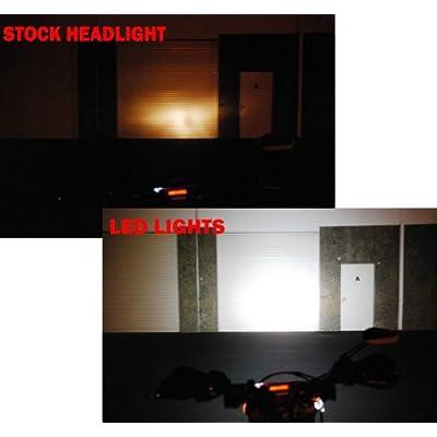 OZ-USA Chrome 20w LED Lights spot Motorcycle Cruiser Fog hid Passing Running White vn: Automotive
