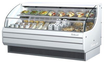 TOM75L 75 Low Profile Display Merchandiser with Modern Design Attractive Glass Sides Environmental Friendly Refrigeration System Standard Back-Guard and Anti-Rust Coating: White