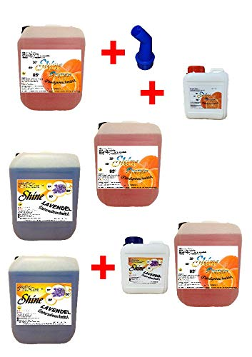 NM 5X 5Ltr. Detergente líquido 3 Naranja/2 Lavanda + 2 detergentes ...