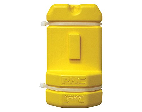 - PHc Blade Bank, Disposable Razor Blade Container, Hi-Vis Yellow, BB00205