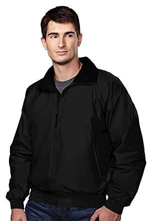 Tri-mountain Nylon jacket with lightweight fleece lining. 8000TM - BLACK / BLACK_2XLT