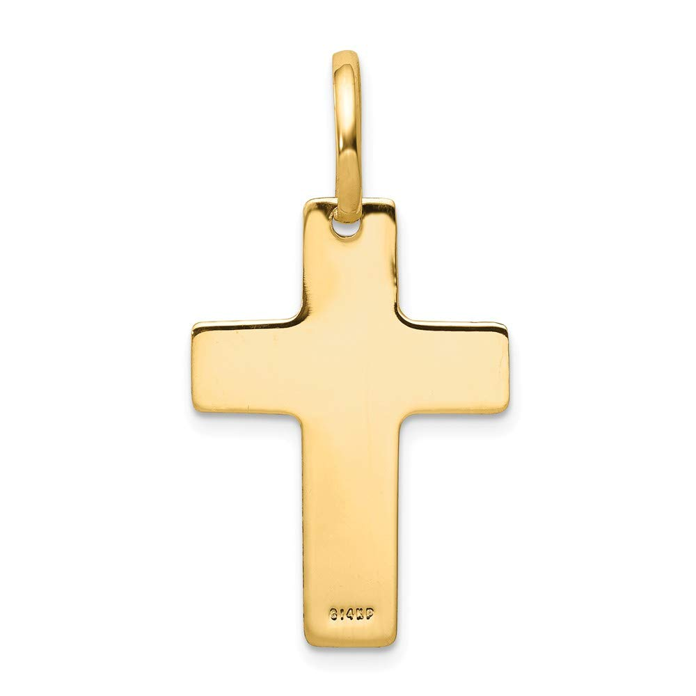 14k Yellow Gold Polished Religious Cross Charm