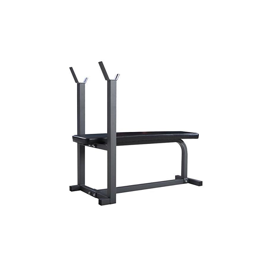 Goplus Weight Bench Flat Crunch Sit Ups Board Fitness Equipment