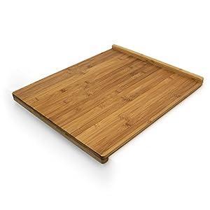 Relaxdays 10018882 Tagliere con Bordo Reversibile, Legno di bambù, 2.5 X 38 X 45 cm, Marrone 15