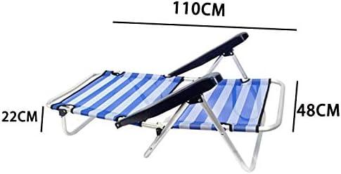 Tejido textiline Transpirable en Color De ralla Azul y Blanco 1 Unidad MENTA LIMON Silla Plegable de Playa de Aluminio 4 Posiciones y Asas para el Transporte BaJO