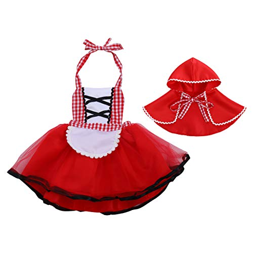 Red Riding Hood Dorothy Costumes - FYMNSI Baby Girls Halloween Deluxe Little