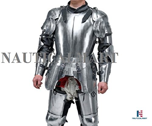 Medieval Knight's Armor SCA LARP steel fantasy battle historical reenactment full medieval armor Halloween by NAUTICALMART (Image #4)