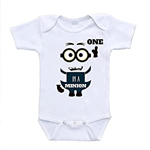 One in a Minion Despicable Me Inspired Baby Bodysuits Clothing