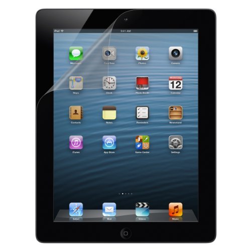Ipad 3 Screen Overlay (Belkin Transparent Screen Protector for iPad 4th, iPad 3 and iPad 2 (2-Pack))