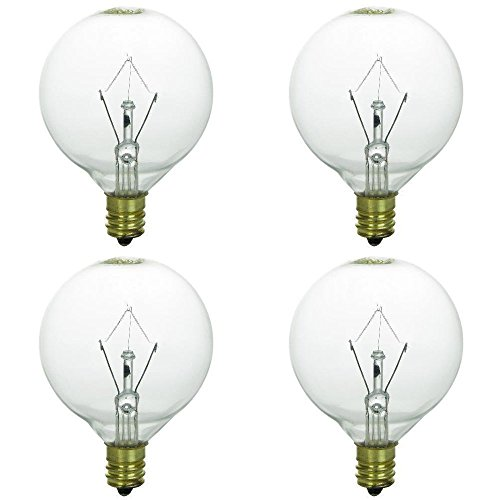 4 Pack 25WLITE 25 Watt Replacement light Bulb for Authentic Scentsy Full-Size Warmer ()
