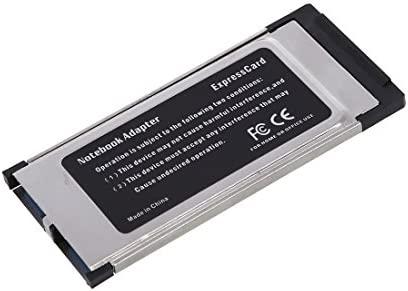 Sunluxy Mall - Tarjeta ExpressCard de 34 mm a 2 puertos USB 3.0/2.0/1.1 (5 GB/s)