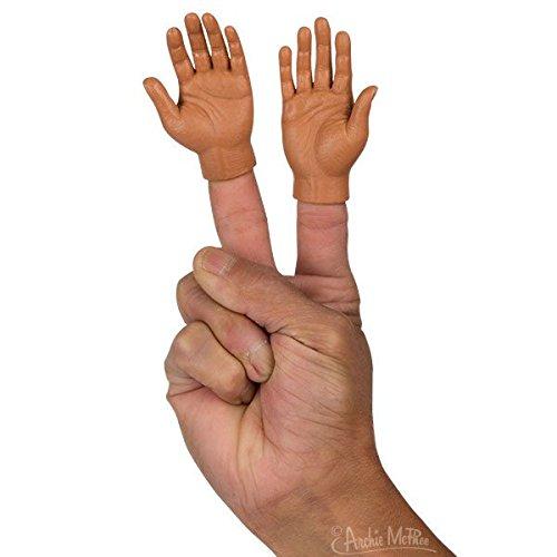 Pair of Finger Hands - Dark Skin Tone (Bulk- No (Finger Hands)