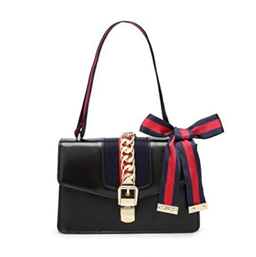 Bag Handbags Shoulder Women's Satin Leather Fashion GSHGA Single Black Crossbody gAR8wFqx