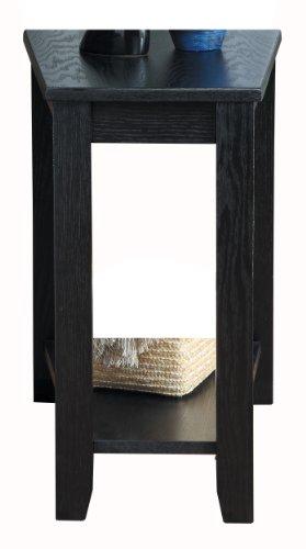 Homelegance 4728BK Chair Side Table, Black Finish (Wedge Tables)