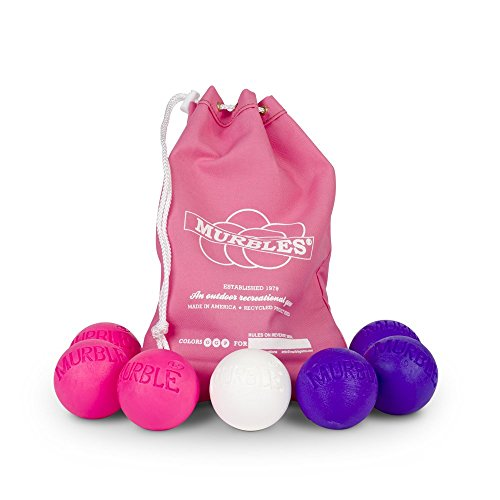 Standard 2 player 7 ball pink and purble Murble set. by Murble Game