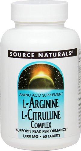Source Naturals L-Arginine L-Citrulline Complex 750 mg / 250