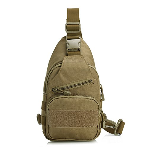 Price comparison product image X-Freedom Military Gear Tactical Casual Sling Chest Pack Bag Shoulder Bag Crossbody Daypack Molle Hunting Camping Bag (Brown)